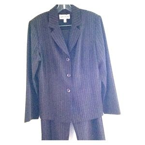 Danny & Nicole Brown Pinstriped Suit